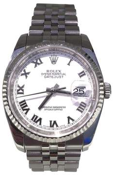 Rolex Datejust 18K White Gold and Stainless Steel 36mm Watch