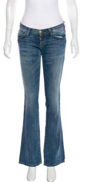 Current/Elliott The Western Boot Cut Low-Rise Jeans