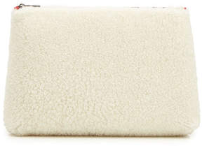 Alexander McQueen Medium Zip Pouch in Shearling