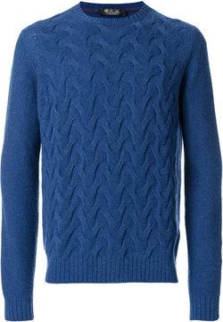 Loro Piana textured weave jumper