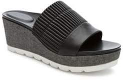 Tahari Gigi Leather Wedge Sandals