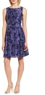 Anne Klein Rosewater Shadow Fit & Flare Dress