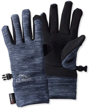 L.L. Bean Multisport Power Stretch Touch Gloves, Print
