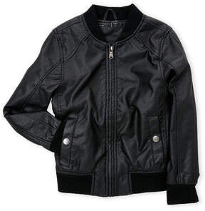 Urban Republic Infant Boys) Faux Leather Perforated Bomber Jacket