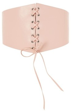 Topshop Women's Lace-Up Faux Leather Corset