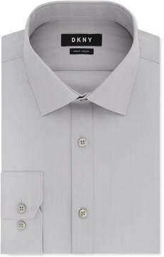 DKNY Men's Slim-Fit Performance Stretch Solid Dress Shirt