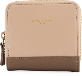 Longchamp Smooth Leather Snap Wallet, Taupe - TAUPE - STYLE