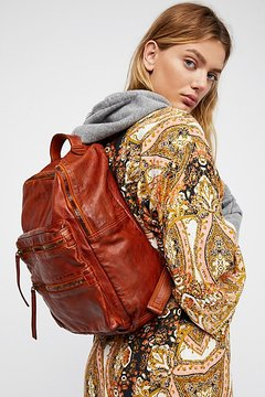 Nico Washed Leather Backpack by Free People