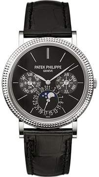 Patek Philippe 5139G-010 18K White Gold / Leather Automatic 38mm Mens Watch