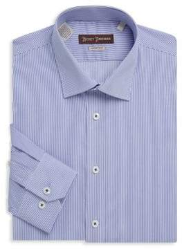 Hickey Freeman Non-Iron Thin Stripe Cotton Dress Shirt