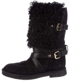 Louis Vuitton Shearling Mid-Calf Boots