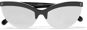 Stella McCartney Cat-eye Acetate Mirrored Sunglasses - Black
