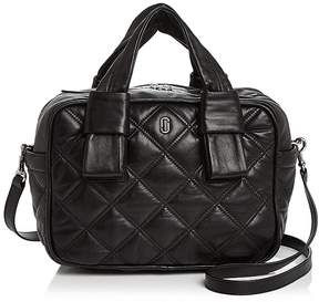 Marc Jacobs Antonia Bauletto Quilted Leather Satchel - BLACK/SILVER - STYLE
