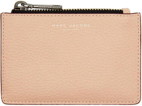 Marc Jacobs Pink Gotham Zip Card Holder - PINK - STYLE
