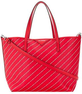 Karl Lagerfeld striped logo shopper bag