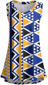 Lily Navy & Gold Geometric Sleeveless Tunic - Women & Plus