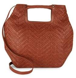 Kooba Authentic Leather Fairfield Weave Tote