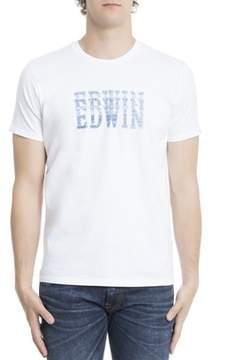 Edwin Men's White Cotton T-shirt.