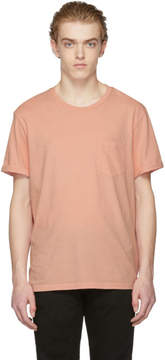 Frame Pink Slouchy Pocket T-Shirt