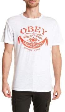 Obey Lotus Banner Crew Neck Tee