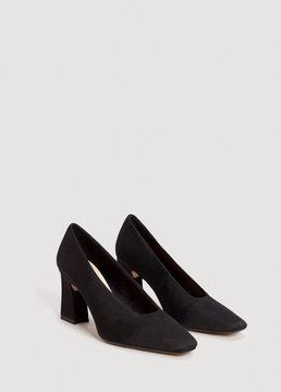 MANGO Textured heeled shoes