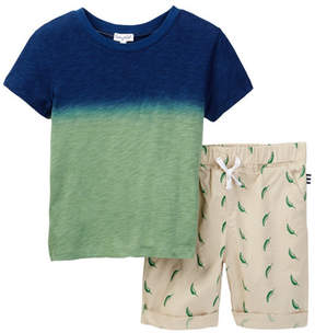 Splendid Dip Dye Printed Short Set (Toddler Boys)
