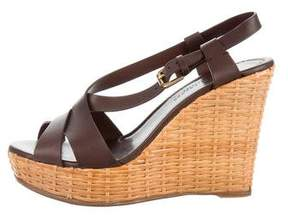 Ralph Lauren Collection Leather Wedge Sandals