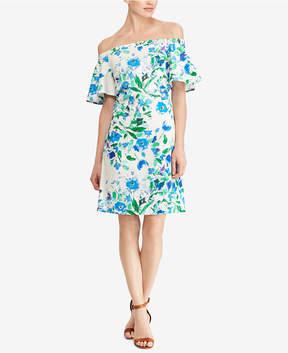 American Living Floral-Print Off-The-Shoulder Dress