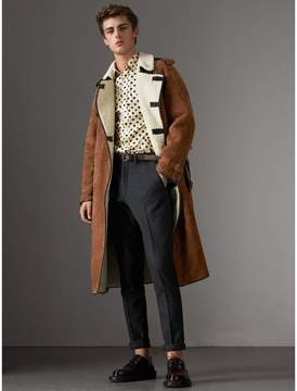 Burberry Suede and Shearling Trench Coat