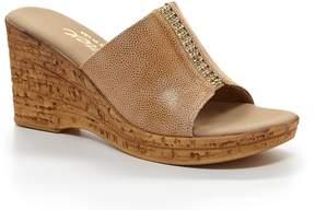 Onex Billie Elastic Stone Detailed Wedge Sandals