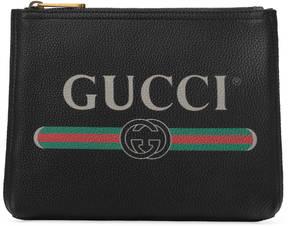 Gucci Print leather small portfolio - BLACK LEATHER - STYLE