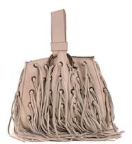 Roberto Cavalli Ivory Leather Eyelet Tote Bag
