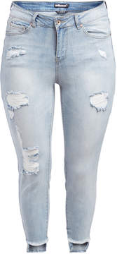 Dollhouse Antigua Distressed Crop Jeans - Plus