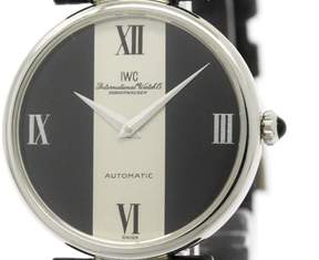 IWC Schaffhausen Stainless Steel Leather Automatic 33mm Watch