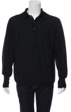 Loro Piana Cashmere & Silk-Blend Polo Sweater