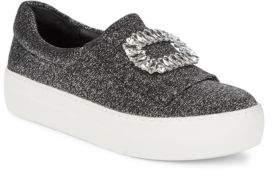 Saks Fifth Avenue Metallic Flatform Sneakers