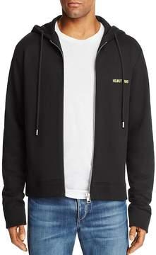 Helmut Lang Neon Logo Zip Hoodie