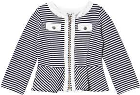 Mayoral Navy Stripe Jersey Jacket