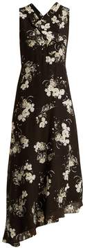 Erdem Milana cowl-neck silk crepe de Chine dress
