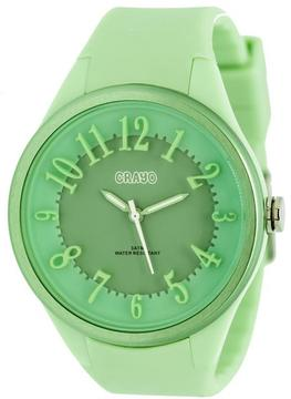 Crayo Burst Collection CRACR3203 Women's Watch with Silicone Strap