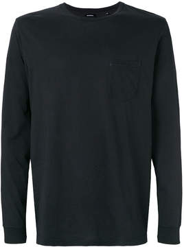 Diesel contrast back lightweight sweatshirt