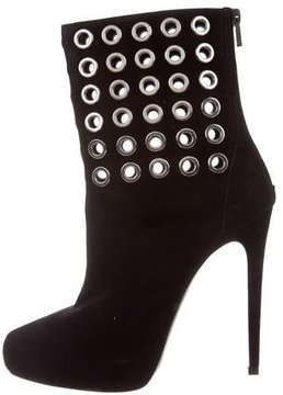Barbara Bui Grommet-Embellished Suede Boots