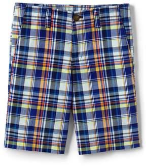 Lands' End Lands'end Boys Plaid Cadet Shorts