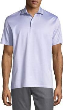 Ermenegildo Zegna Silk-Blend Polo Shirt, Purple