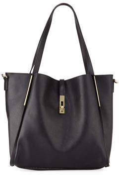 Neiman Marcus Abigail Faux-Leather Tote Bag
