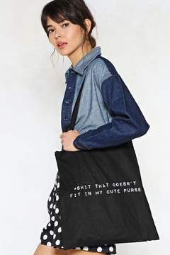 Nasty Gal For That Extra Shit Tote Bag