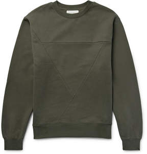 Public School Panelled Cotton-Jersey Sweatshirt