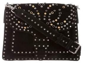 Rebecca Minkoff Suede Studded Shoulder Bag