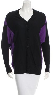 D-Exterior D. Exterior Wool Colorblock Cardigan w/ Tags