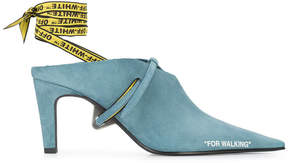 Off-White Blue For Walking Mules